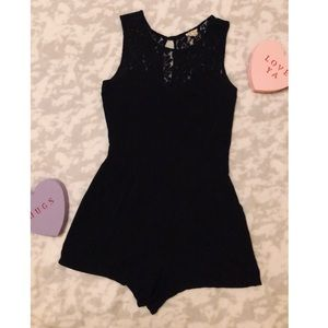 """""""One Clothing"""" Black Lacey Romper"""